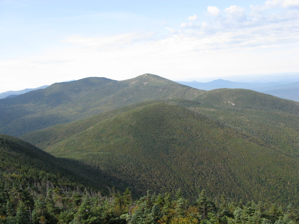 North and South Kinsman from Cannon Mountain, part of Appalachian Trail