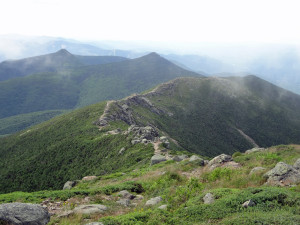 Appalachian Trail at Franconia Ridge, viewed from Mt. Lincoln. Photo by Daren Worcester