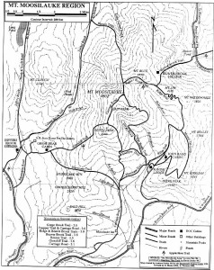 Map of Moosilauke region of Appalachian Trail in New Hampshire