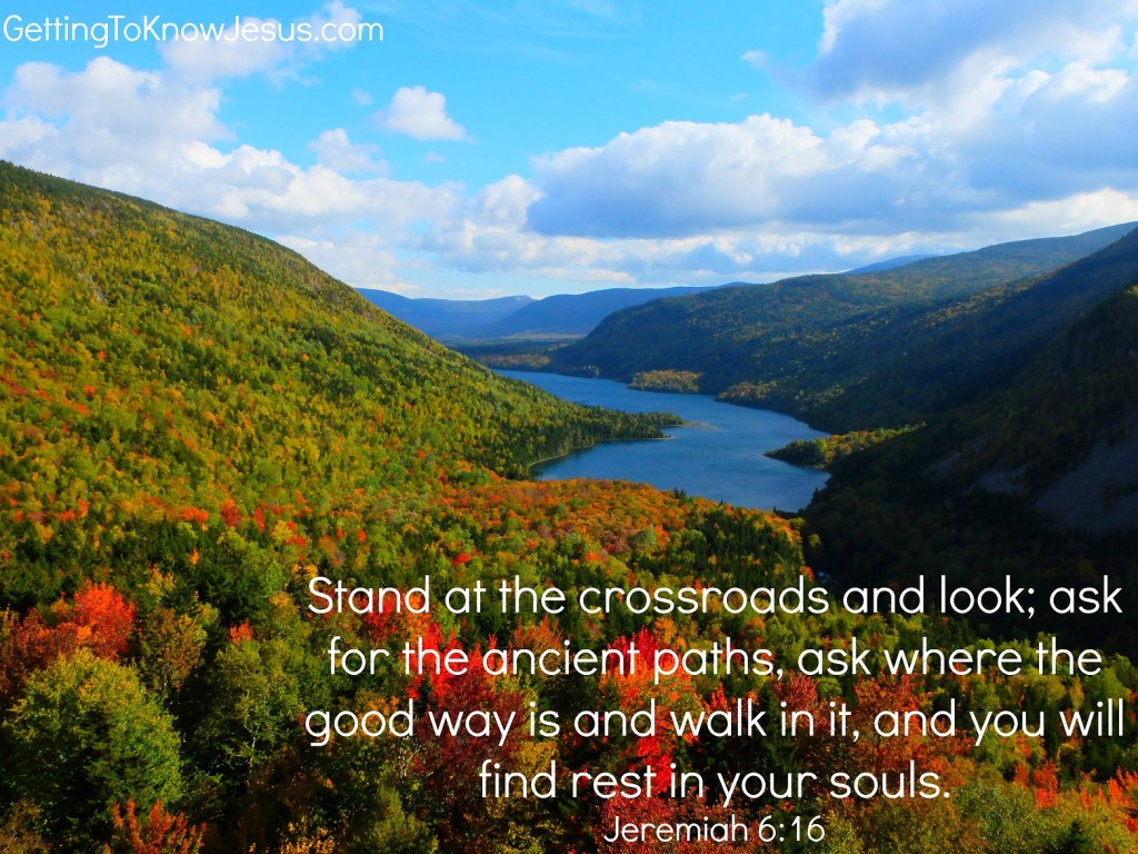Stand at the Crossroads. Verse Image for Thankful post November 25