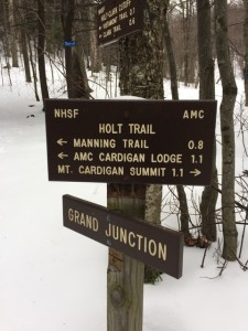 Signposts on Mt Cardigan, NH 2017